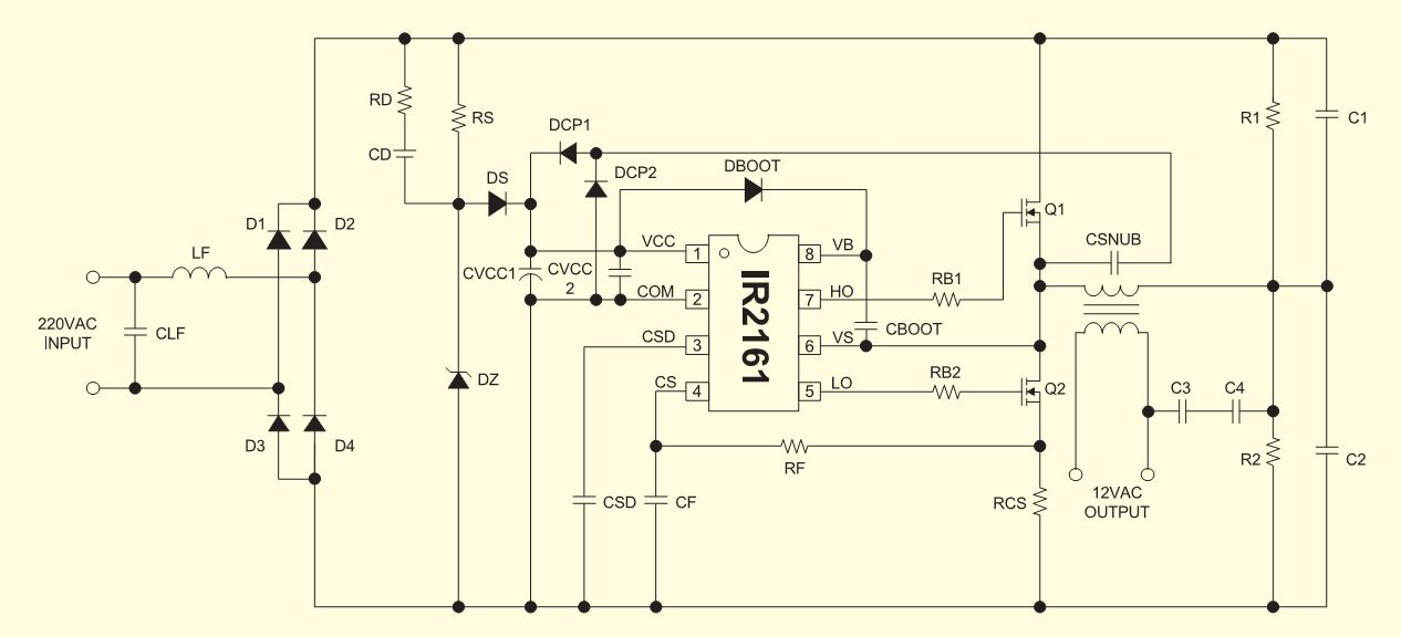 Схема управления галогенными лампами.  Техническая помощь.  Главная.