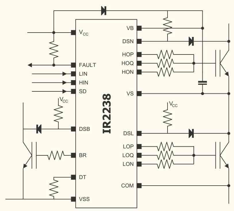 Схема включения ИС IR2238Q/